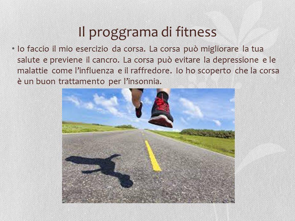 Il proggrama di fitness