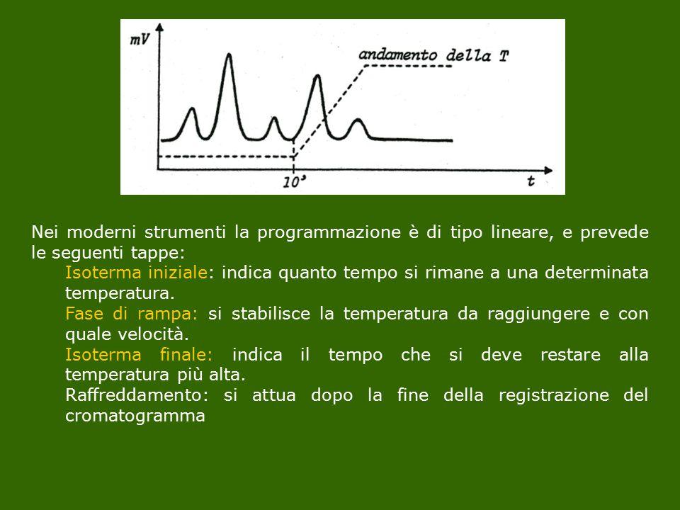 Nei moderni strumenti la programmazione è di tipo lineare, e prevede le seguenti tappe: