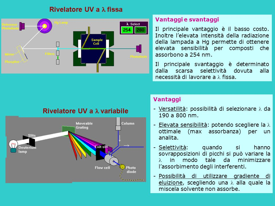 Rivelatore UV a l variabile