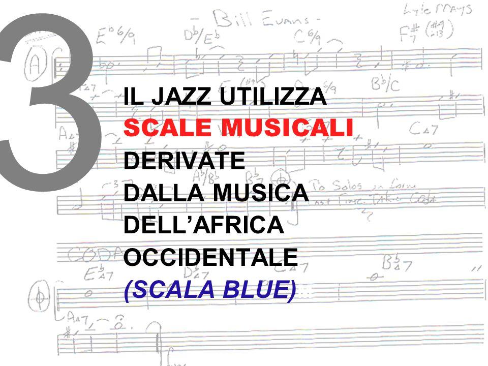 3 IL JAZZ UTILIZZA SCALE MUSICALI DERIVATE DALLA MUSICA DELL'AFRICA
