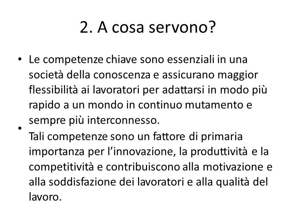 2. A cosa servono Le competenze chiave sono essenziali in una