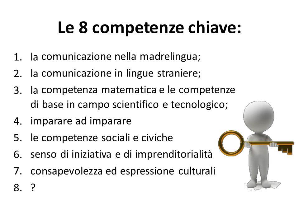 Le 8 competenze chiave: 1. la