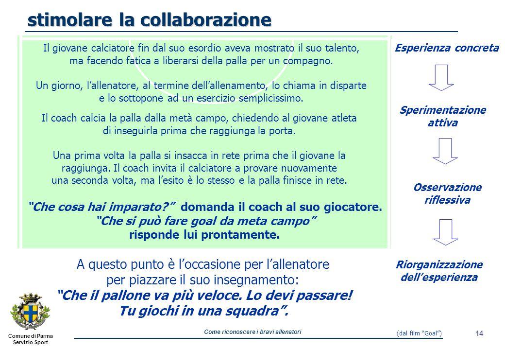 stimolare la collaborazione