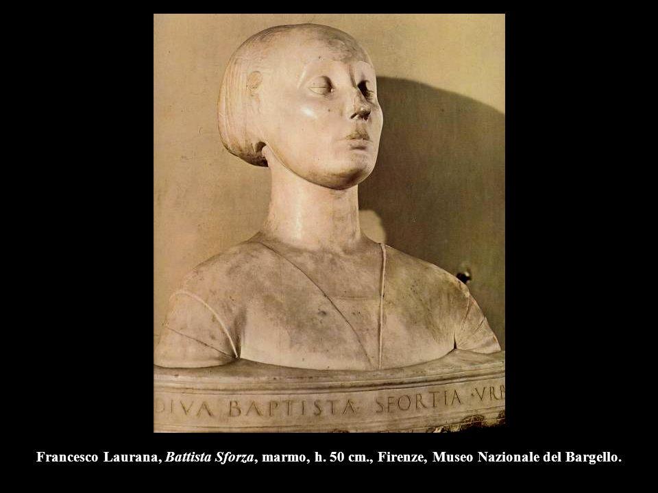 Francesco Laurana, Battista Sforza, marmo, h. 50 cm