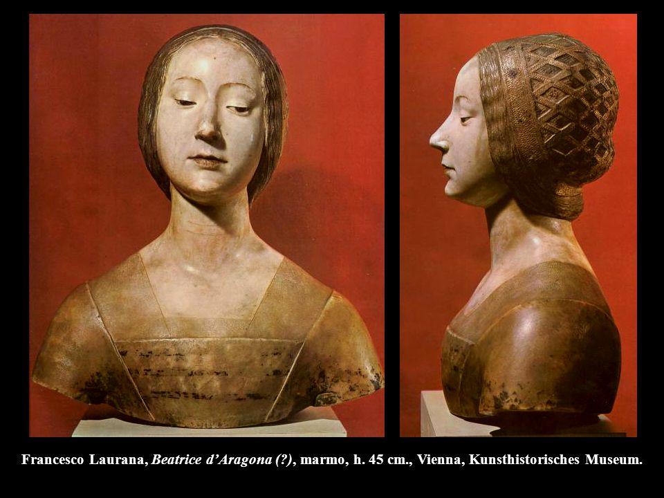 Francesco Laurana, Beatrice d'Aragona (. ), marmo, h. 45 cm