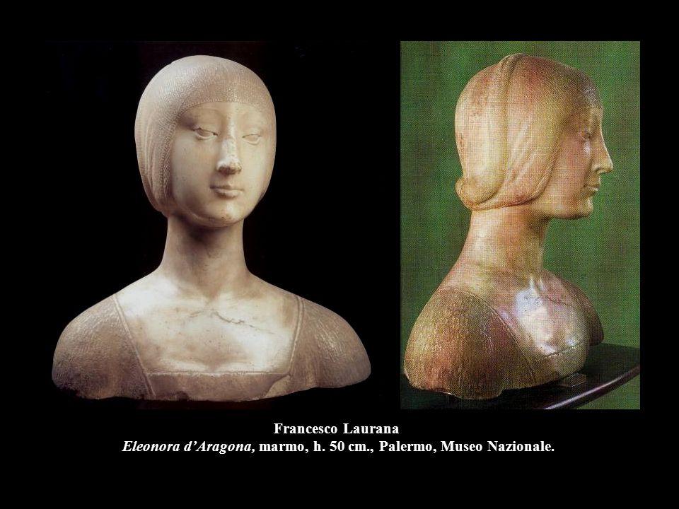 Francesco Laurana Eleonora d'Aragona, marmo, h. 50 cm