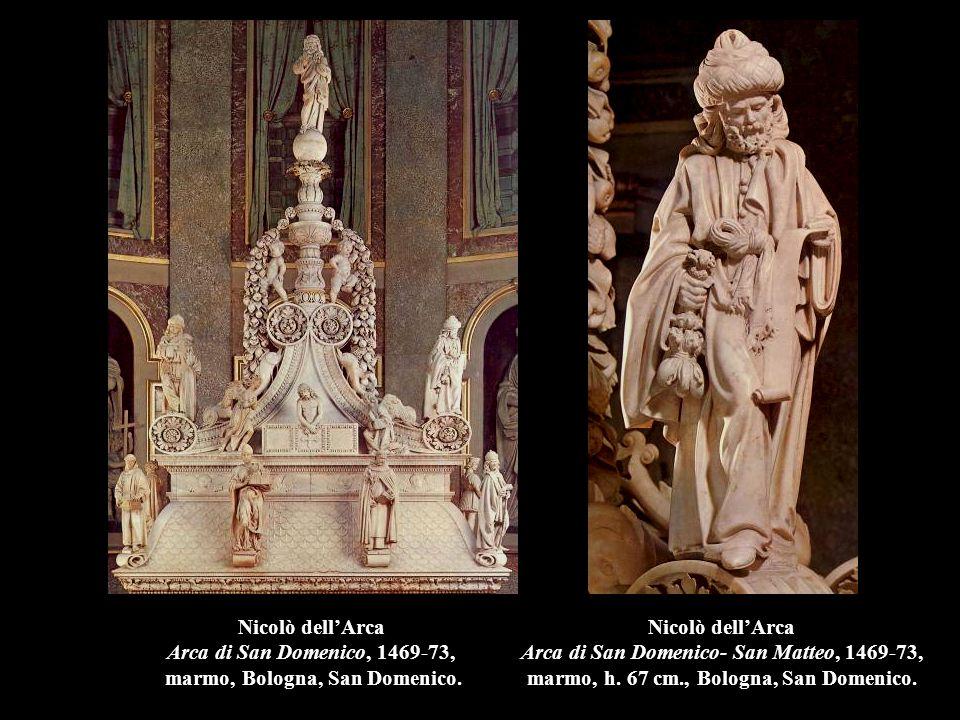 Nicolò dell'Arca Arca di San Domenico, 1469-73, marmo, Bologna, San Domenico.