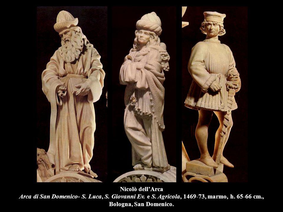 Nicolò dell'Arca Arca di San Domenico- S. Luca, S. Giovanni Ev. e S