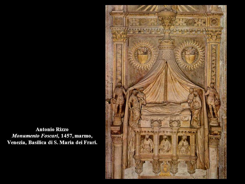 Antonio Rizzo Monumento Foscari, 1457, marmo, Venezia, Basilica di S