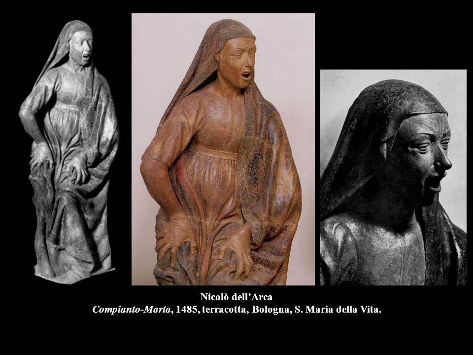 Nicolò dell'Arca Compianto-Marta, 1485, terracotta, Bologna, S