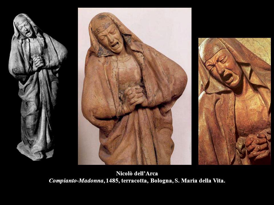 Nicolò dell'Arca Compianto-Madonna, 1485, terracotta, Bologna, S