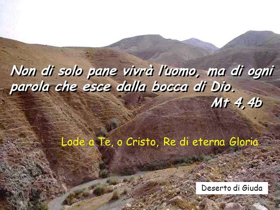 Non di solo pane vivrà l'uomo, ma di ogni parola che esce dalla bocca di Dio.