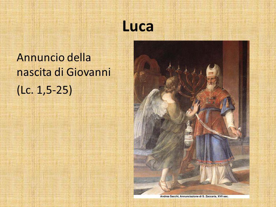 Luca Annuncio della nascita di Giovanni (Lc. 1,5-25)