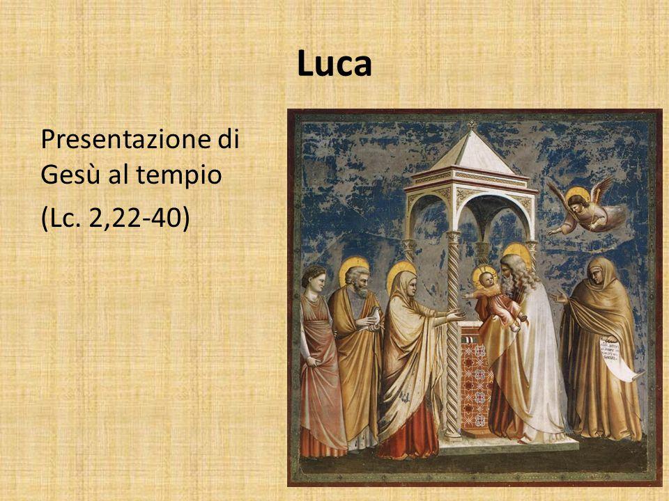 Luca Presentazione di Gesù al tempio (Lc. 2,22-40)