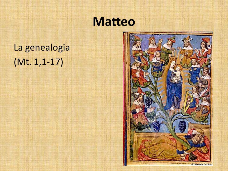 Matteo La genealogia (Mt. 1,1-17)