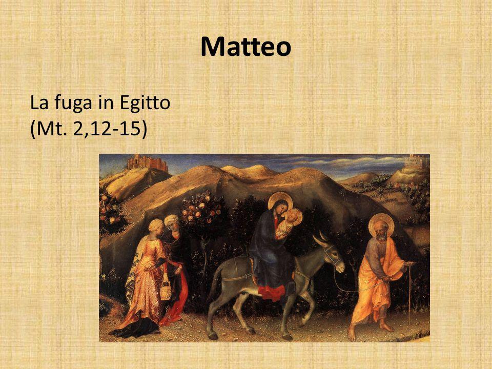 Matteo La fuga in Egitto (Mt. 2,12-15)