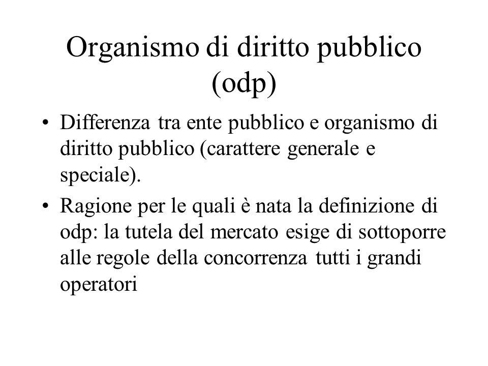 Organismo di diritto pubblico (odp)