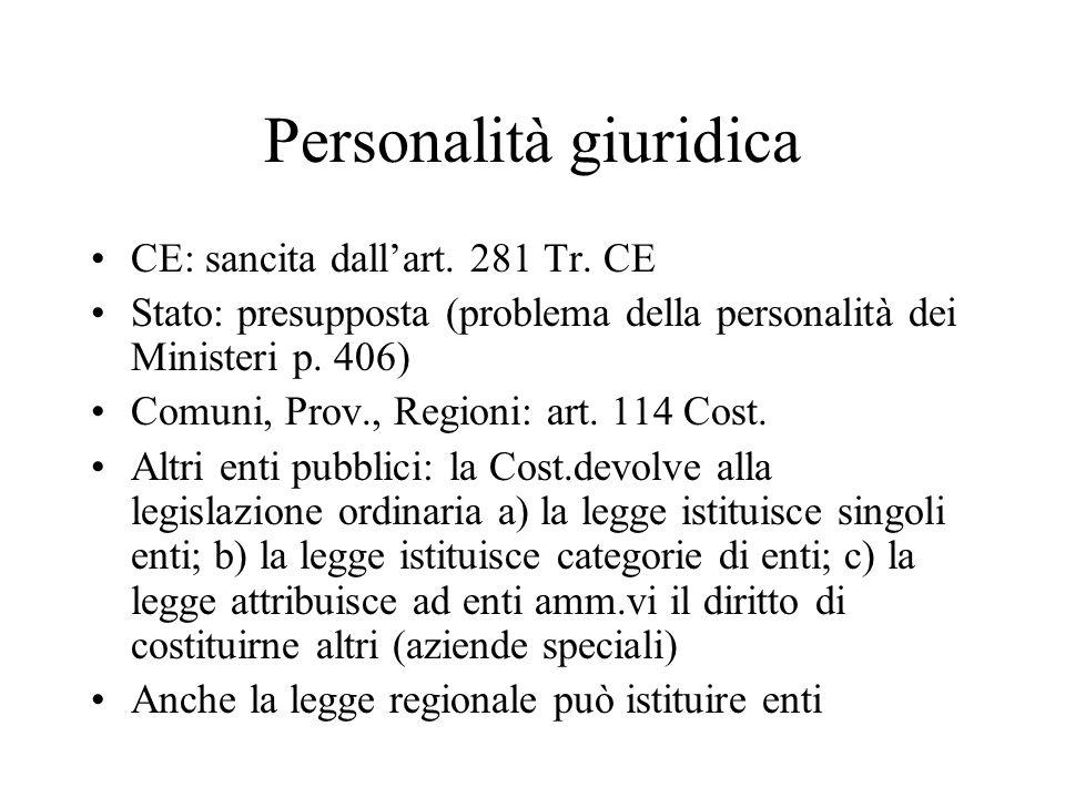 Personalità giuridica