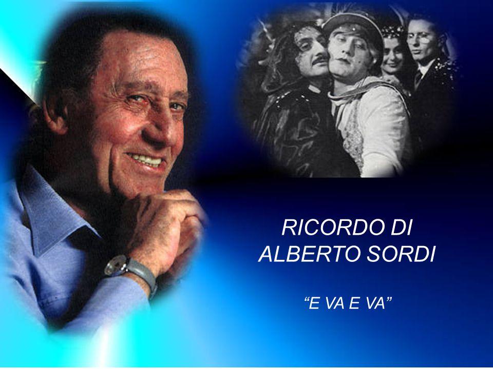 RICORDO DI ALBERTO SORDI