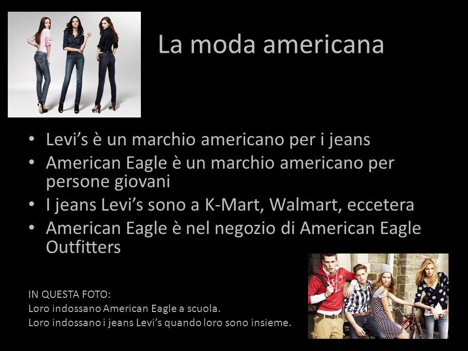 La moda americana Levi's è un marchio americano per i jeans