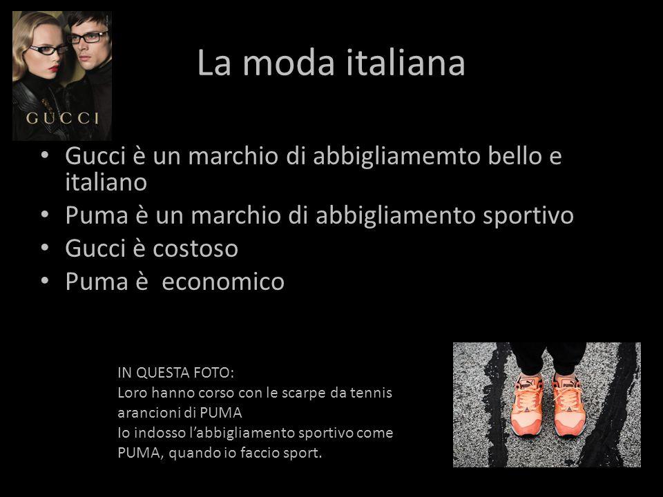 La moda italiana Gucci è un marchio di abbigliamemto bello e italiano
