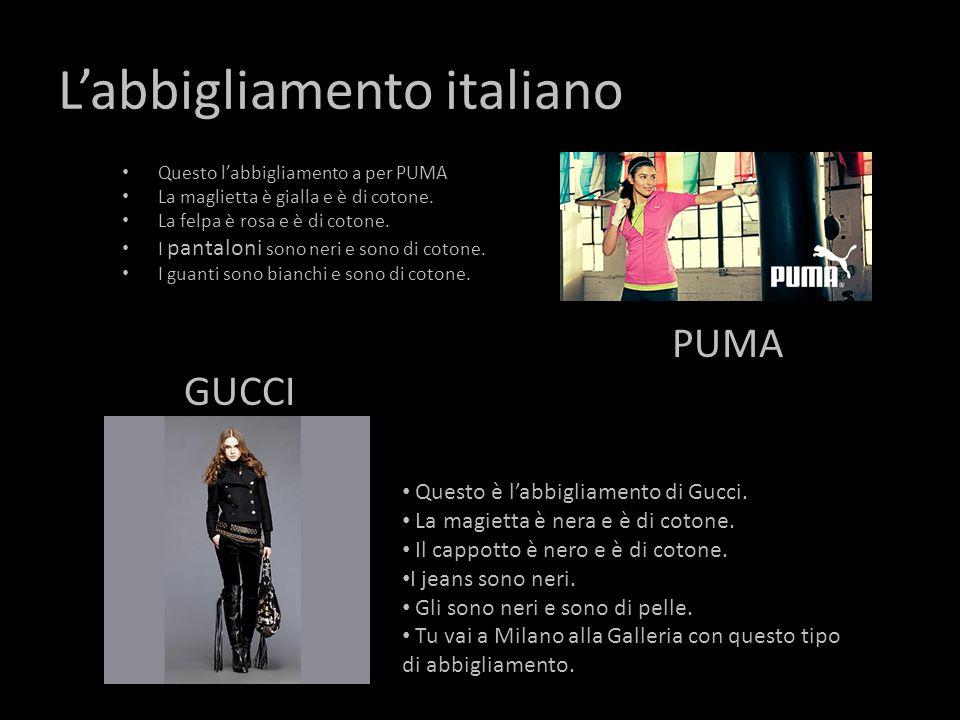 L'abbigliamento italiano