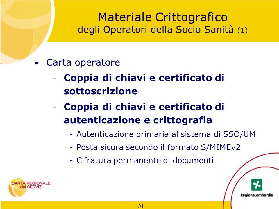 Materiale Crittografico degli Operatori della Socio Sanità (1)