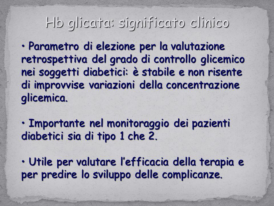 Hb glicata: significato clinico