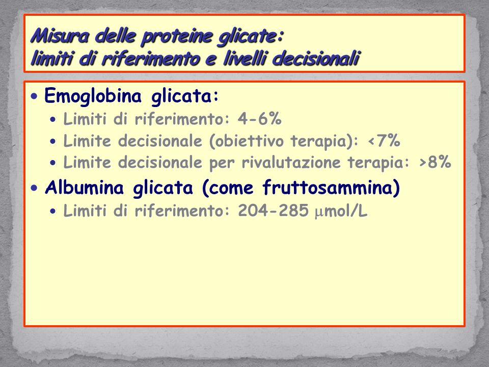 Albumina glicata (come fruttosammina)