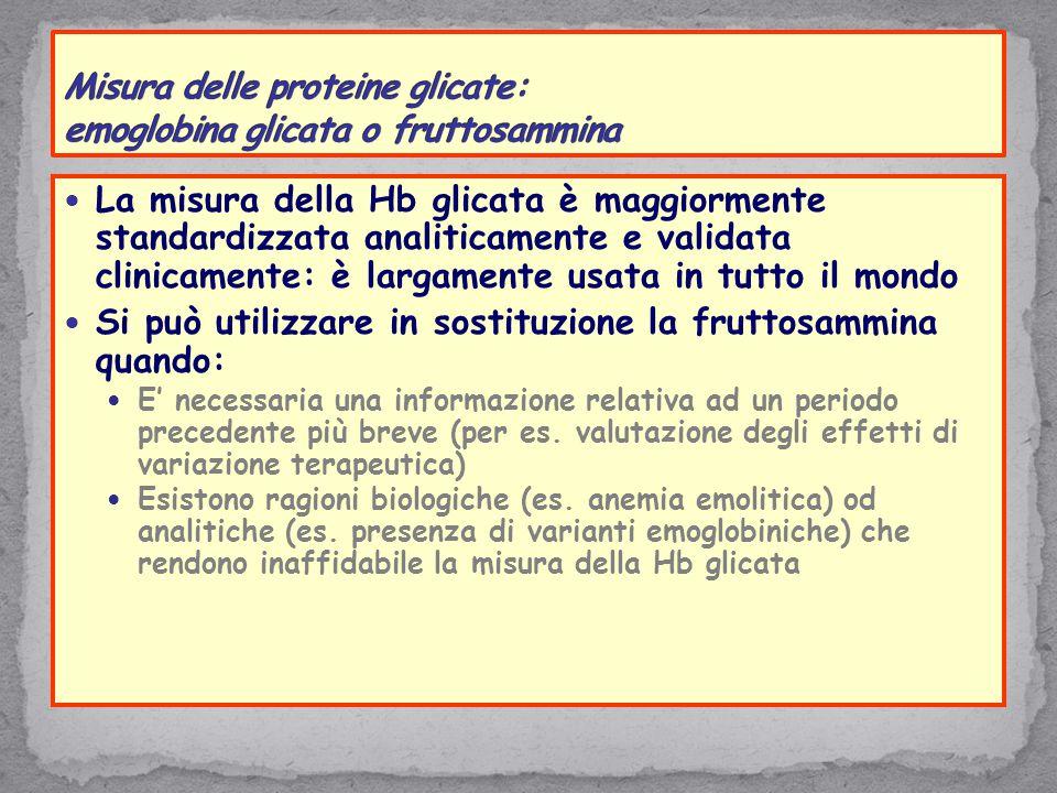 Misura delle proteine glicate: emoglobina glicata o fruttosammina