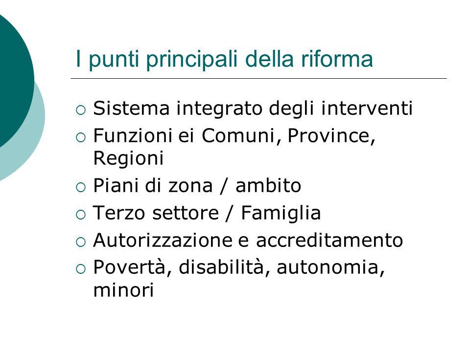 I punti principali della riforma