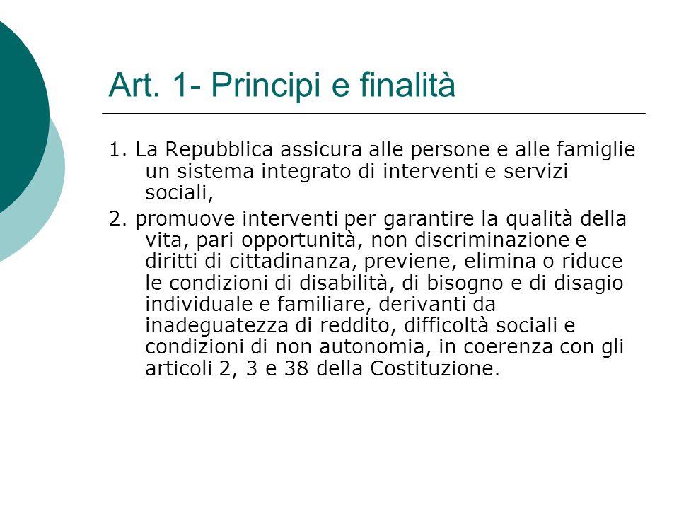 Art. 1- Principi e finalità