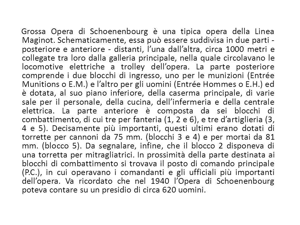 Grossa Opera di Schoenenbourg è una tipica opera della Linea Maginot