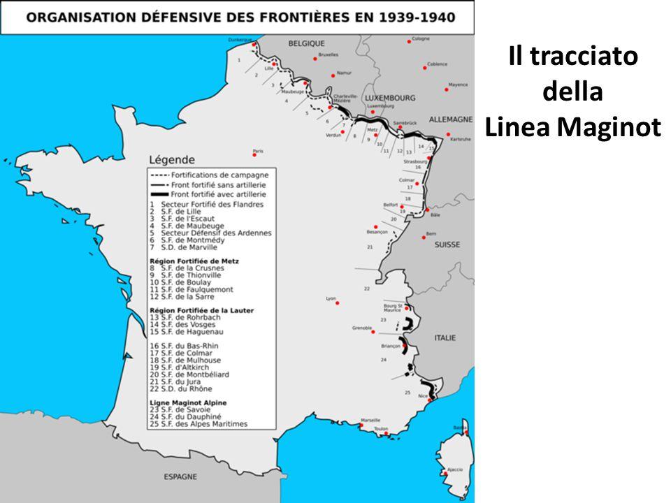 Il tracciato della Linea Maginot