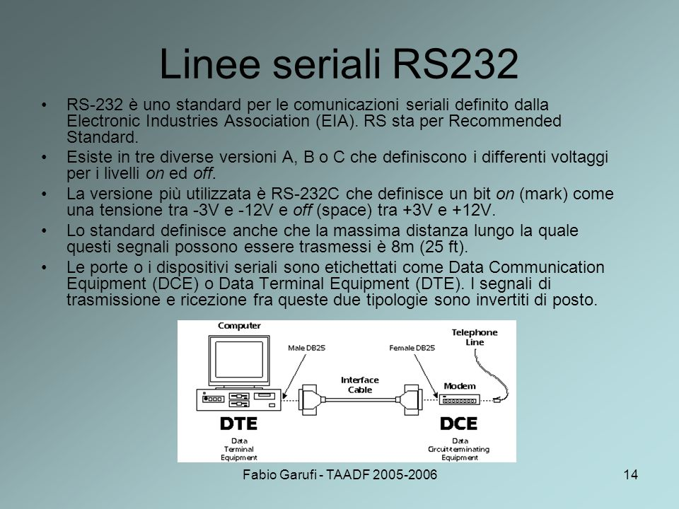 Linee seriali RS232