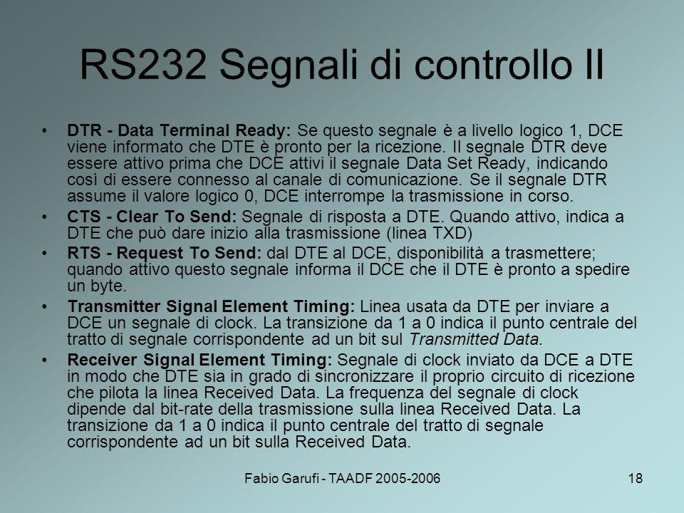RS232 Segnali di controllo II