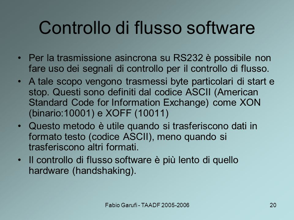 Controllo di flusso software