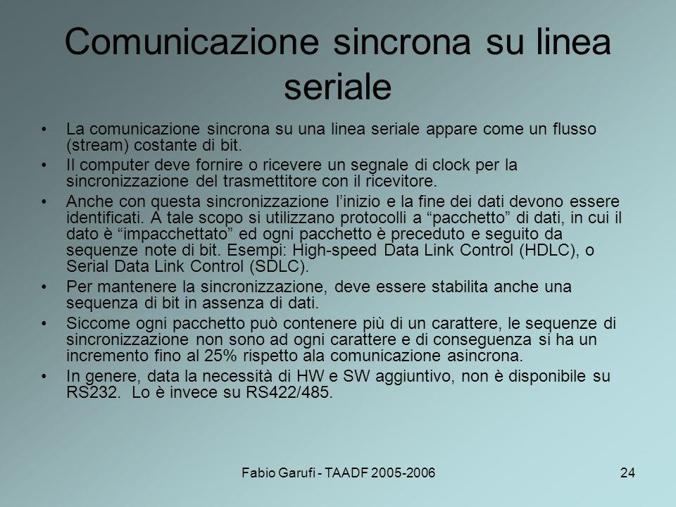 Comunicazione sincrona su linea seriale