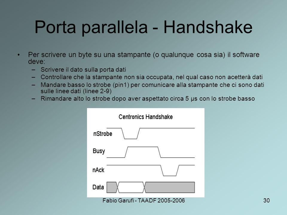 Porta parallela - Handshake