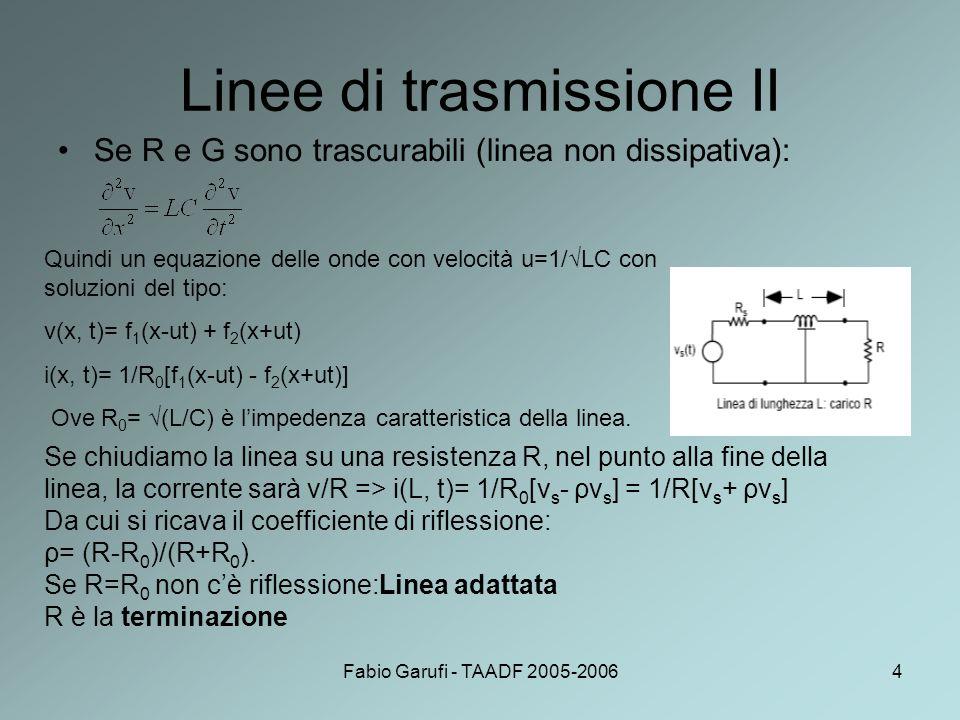Linee di trasmissione II