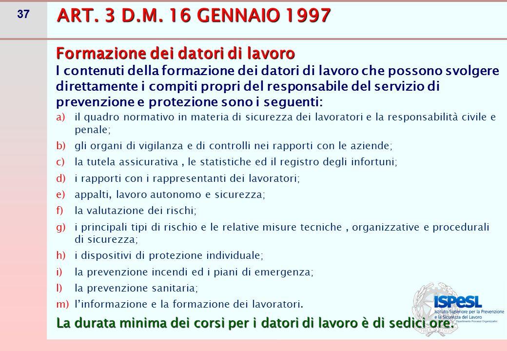 DL CHE SVOLGE I COMPITI DI RSPP (ART. 34)