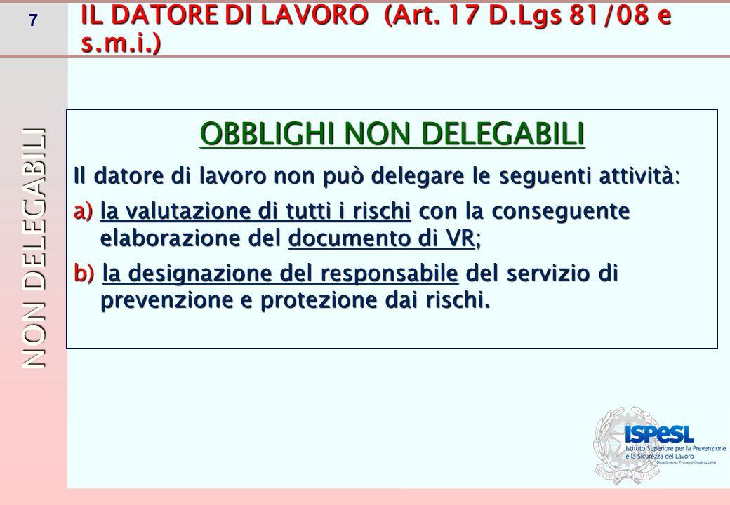 DEFINIZIONE D.Lgs 81/08 e s.m.i