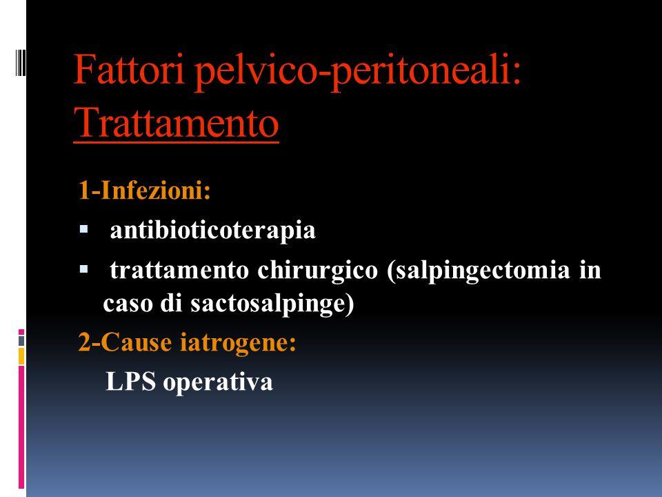 Fattori pelvico-peritoneali: Trattamento
