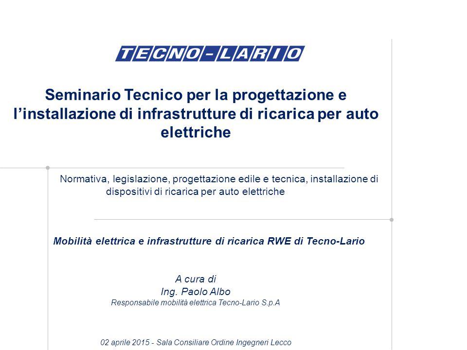 Mobilità elettrica e infrastrutture di ricarica RWE di Tecno-Lario