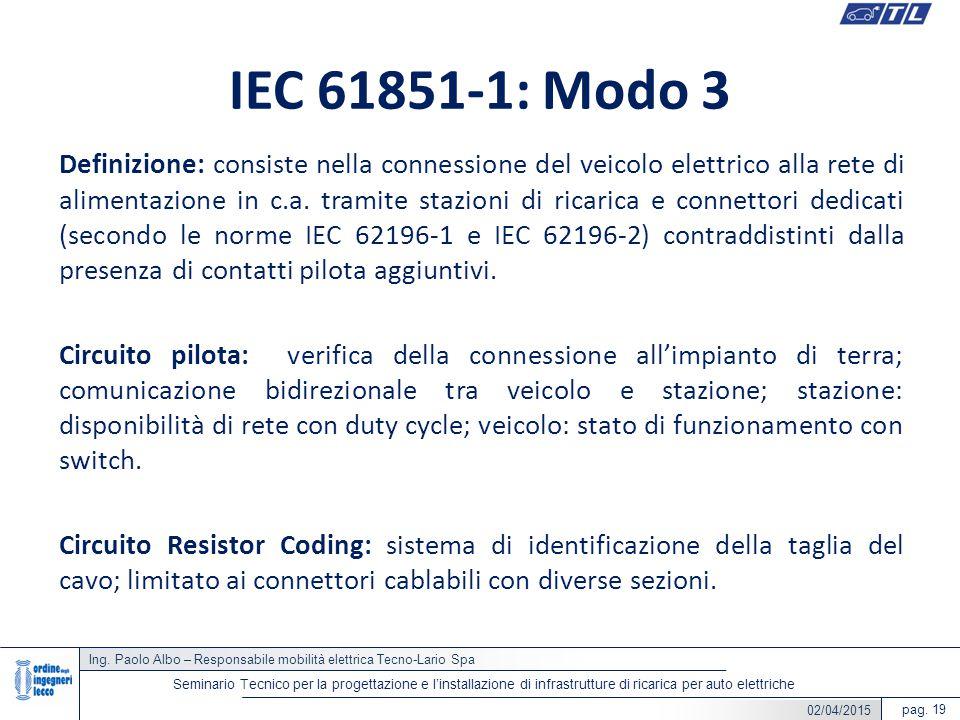 IEC 61851-1: Modo 3