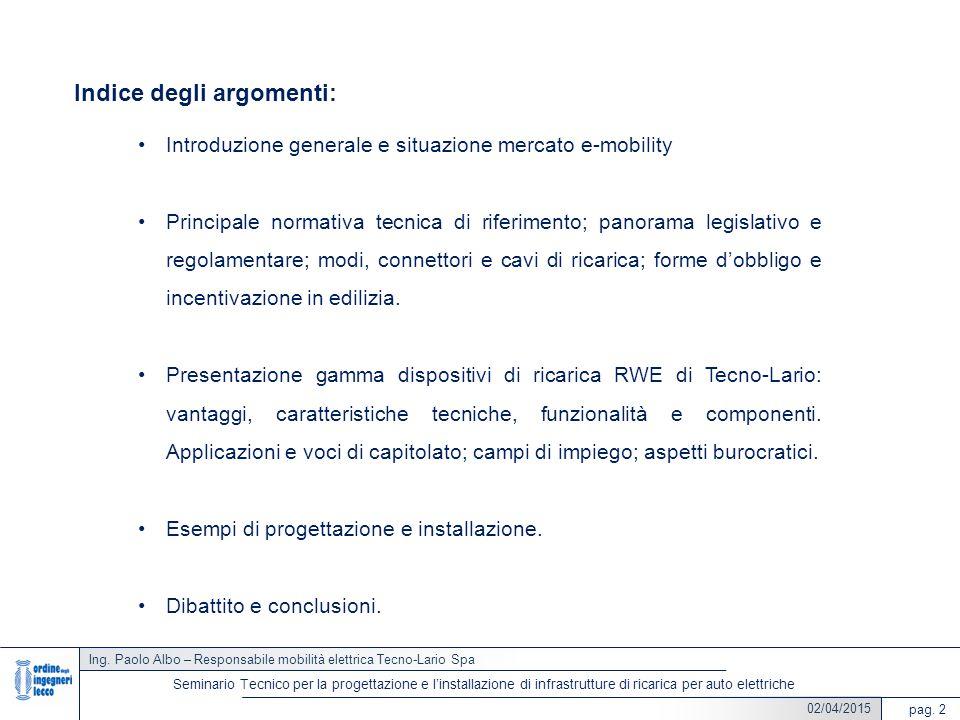 Indice degli argomenti: