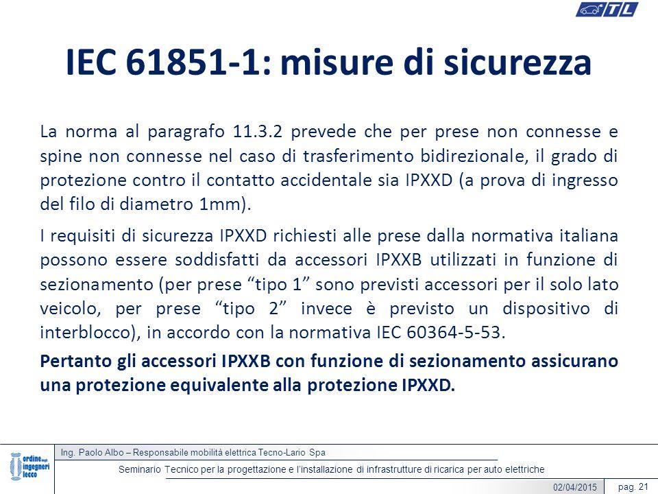 IEC 61851-1: misure di sicurezza
