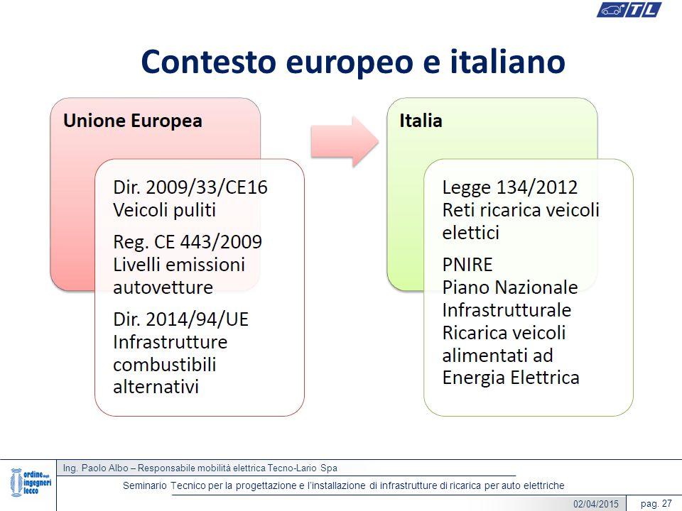 Contesto europeo e italiano
