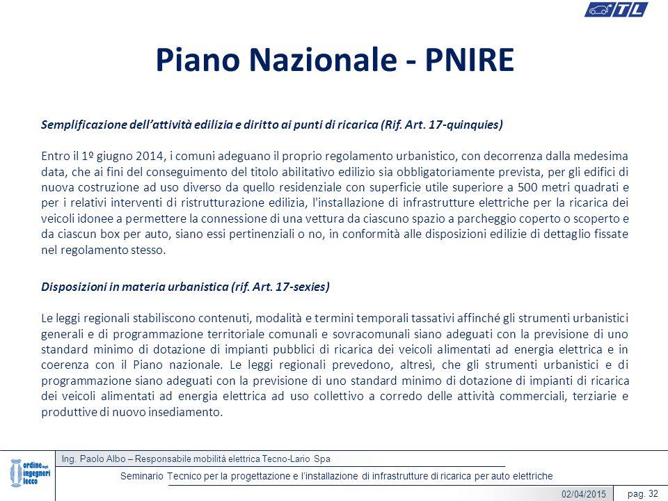 Piano Nazionale - PNIRE
