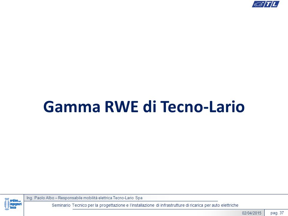 Gamma RWE di Tecno-Lario